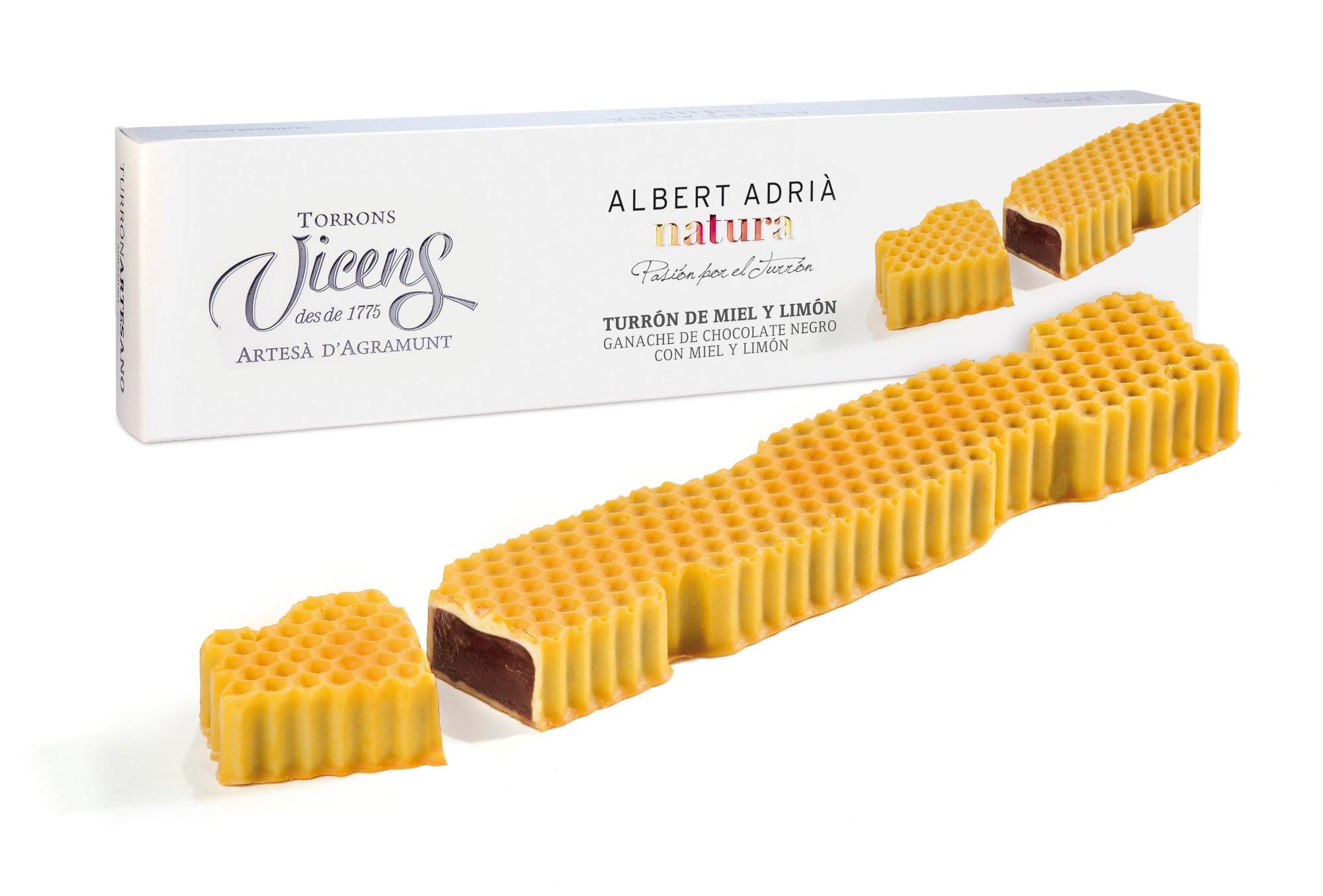 Šokoladinis ganašas VICENS su medaus ir citrinos apvalkalu, 300g