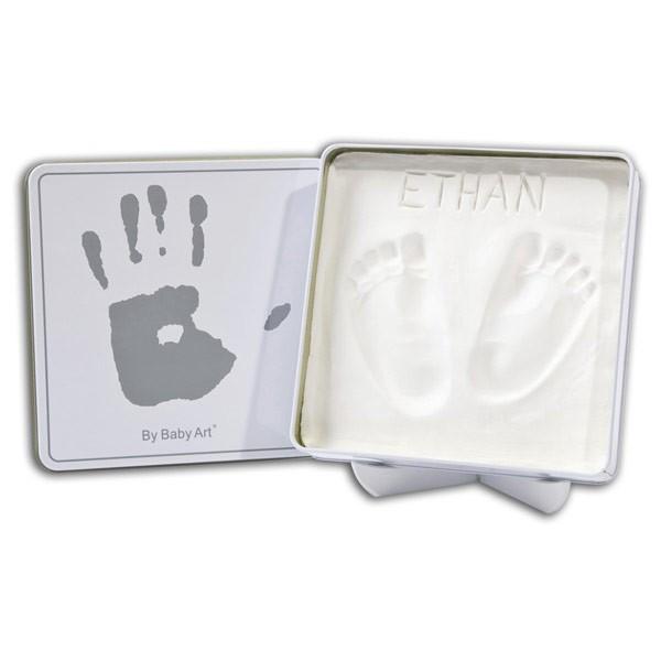 Kojytės ar rankytės įspaudas BABY ART kvadratinėje dėžutėje