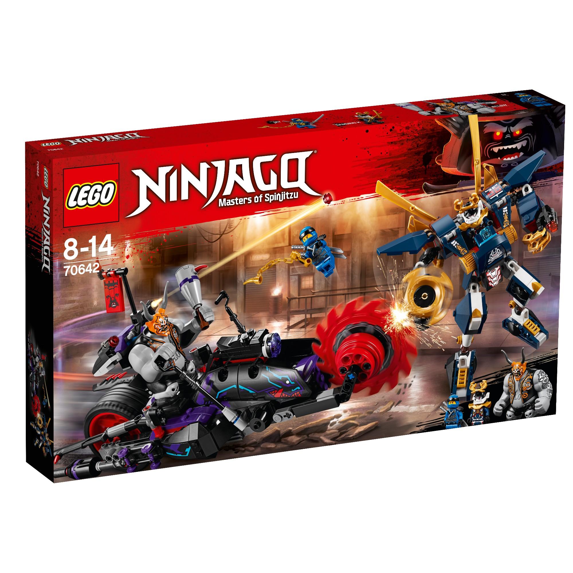 Konstruktorius LEGO NINJAGO Killow prieš Samurajų X 8-14 metų vaikams (70642)