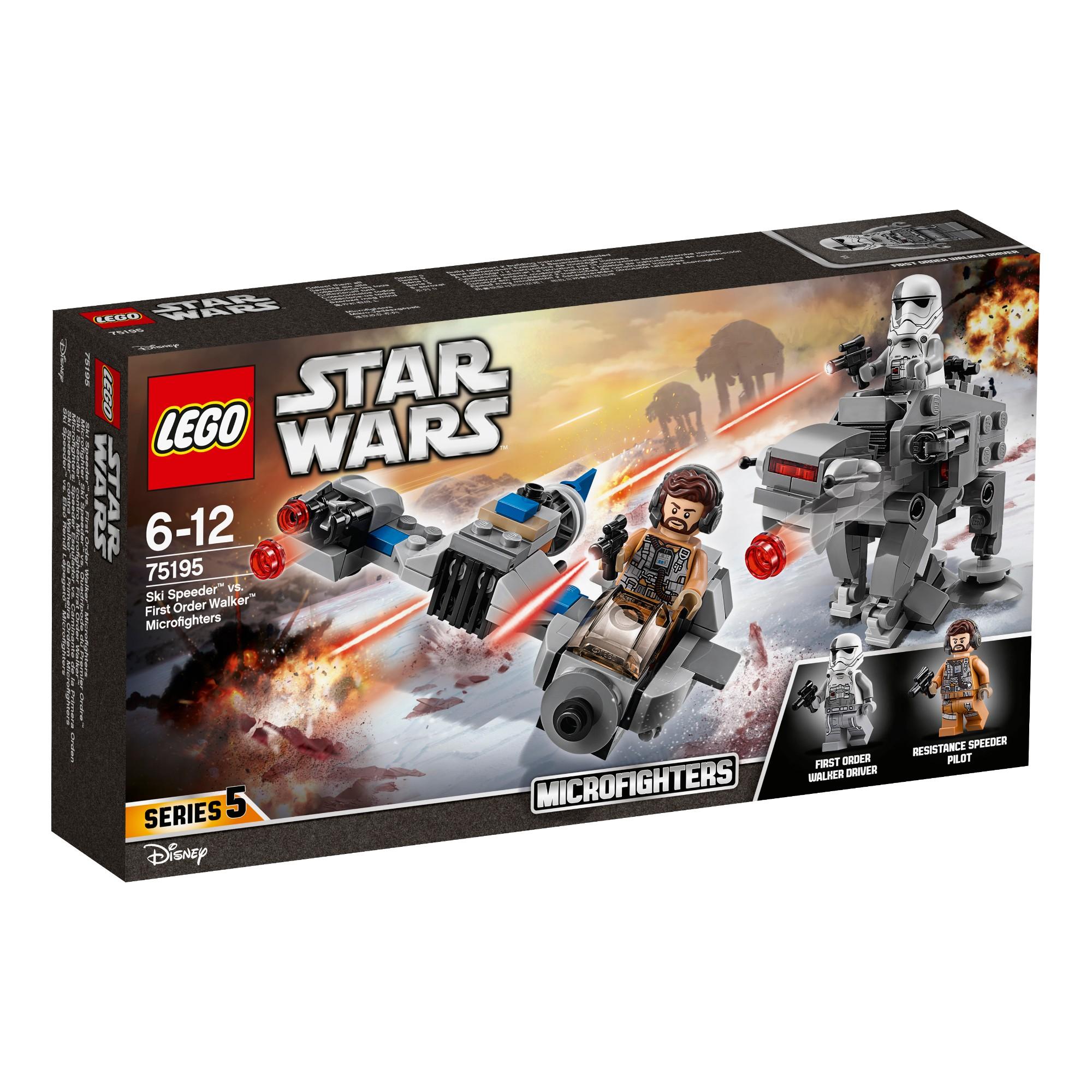 Konstruktorius LEGO STAR WARS TM Mažieji kovotojai Ski Speeder™ 6-12 metų vaikams (75195)