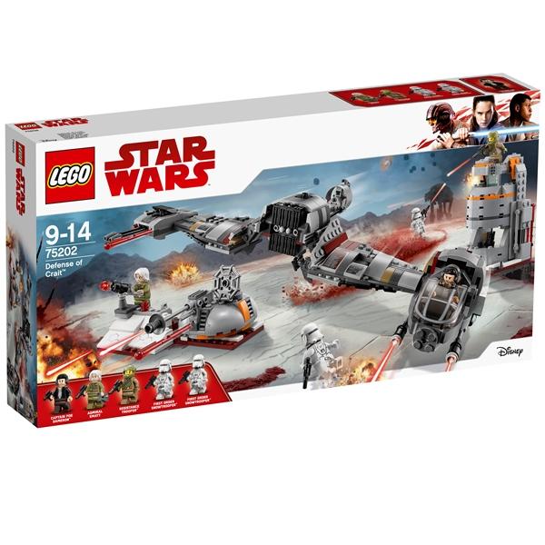 Konstruktorius LEGO STAR WARS TM Kraito planetos gynyba 9-14 metų vaikams (75202)