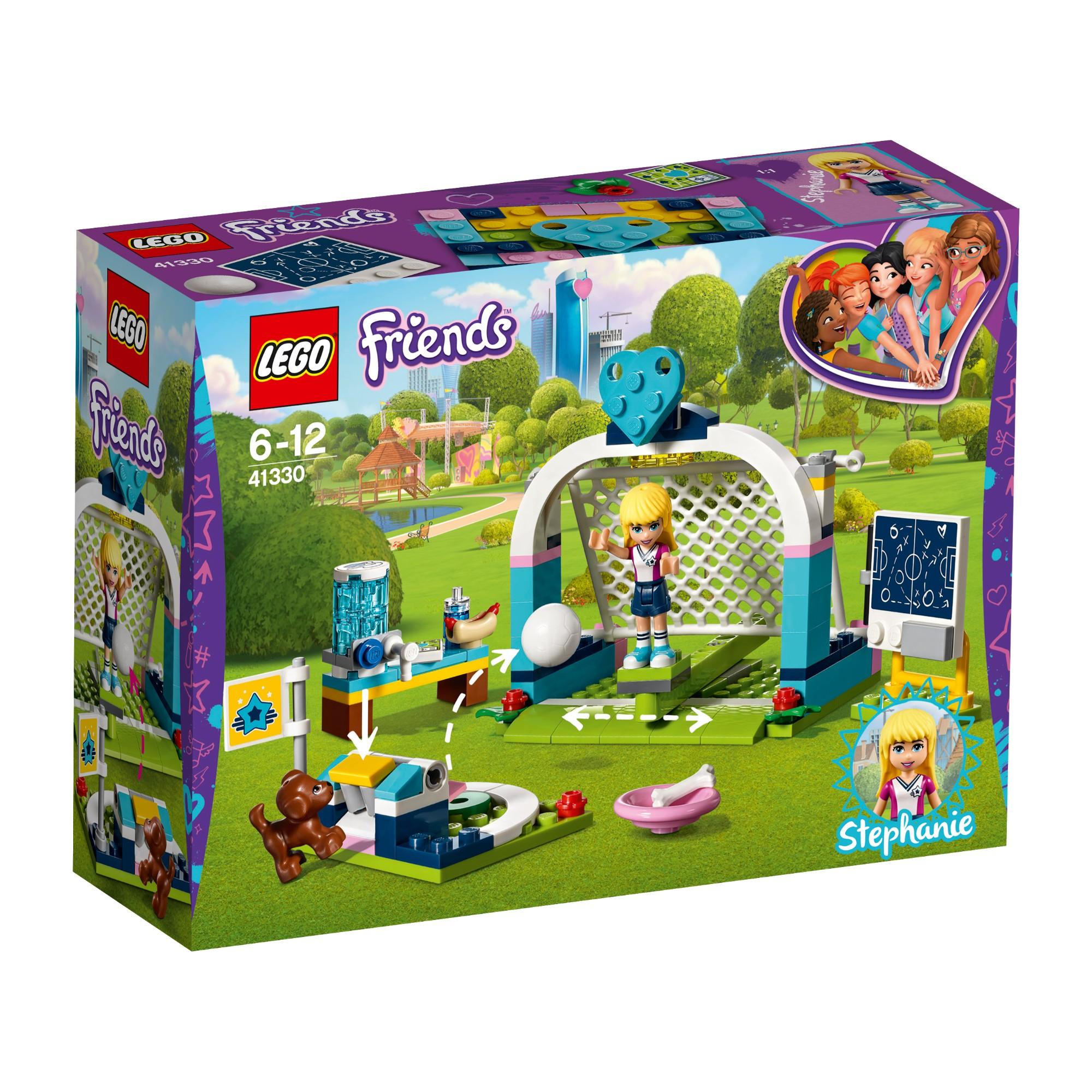 Konstruktorius LEGO FRIENDS Stephanie futbolo treniruotė 6-12 metų vaikams (41330)