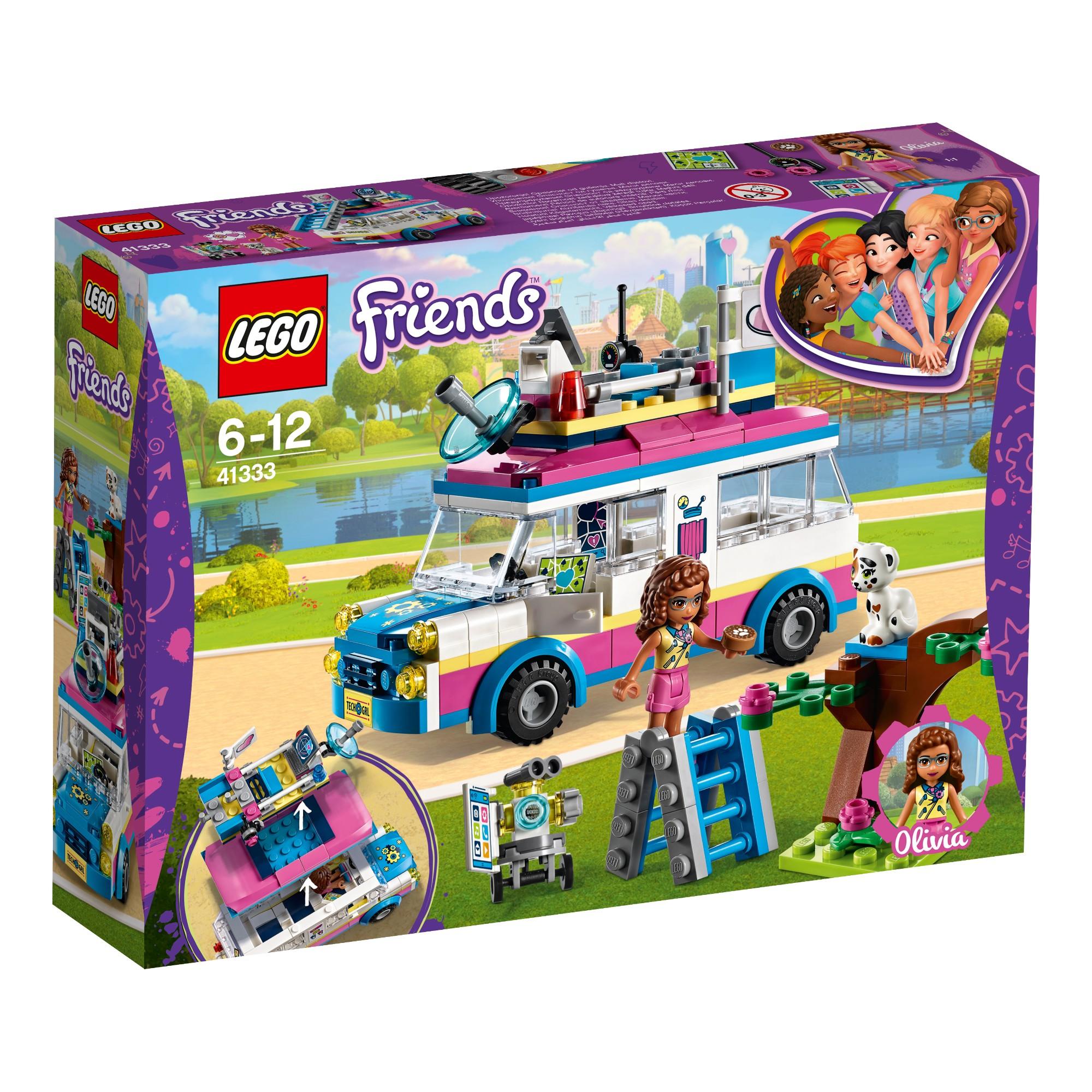Konstruktorius LEGO FRIENDS Olivia užduočių automobilis 6-12 metų vaikams (41333)