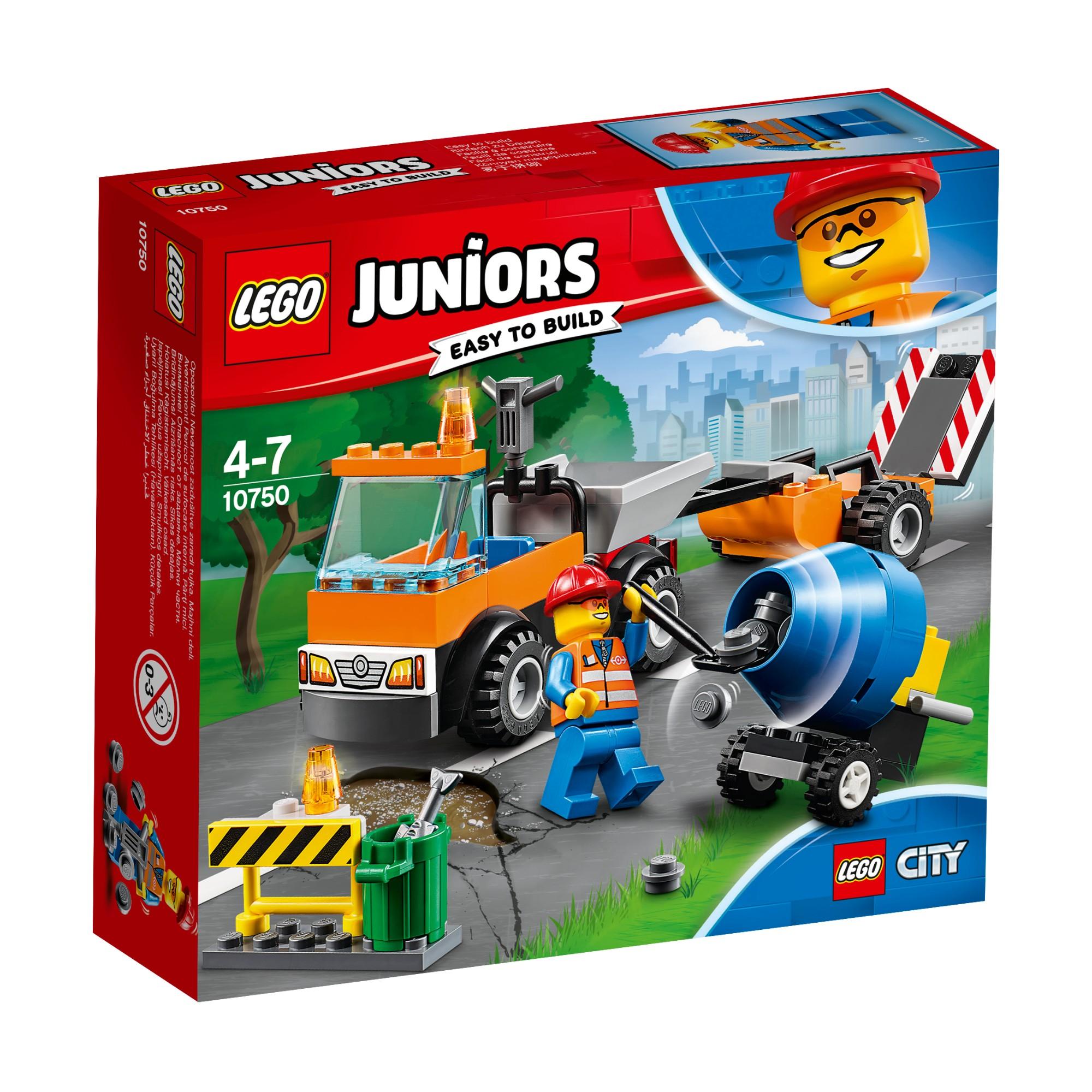 Konstruktorius LEGO JUNIORS Kelių remonto sunkvežimis 4-7 metų vaikams (10750)