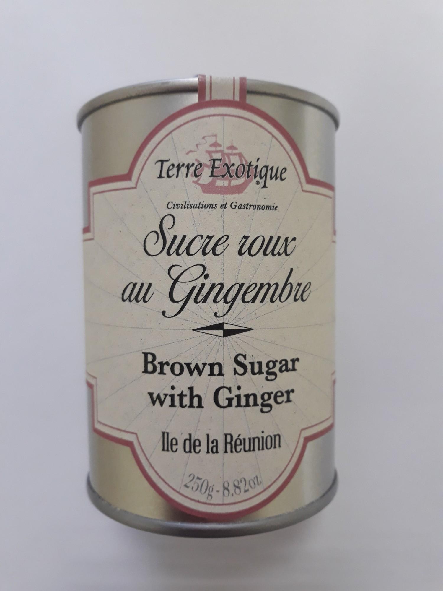 Rudasis cukrus su imbieru TERRE EXOTIQUE, 250g