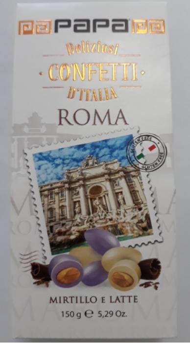 Draže PAPA Roma Mirtillo e Latte, 150g