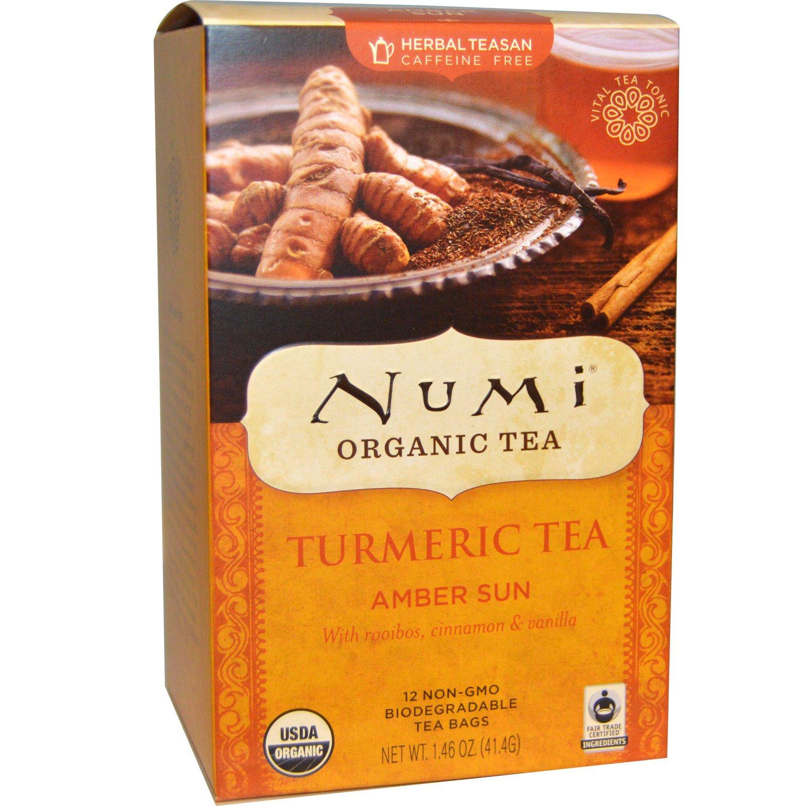 Ekologiška ciberžolės arbata Amber sun NUMI, 12 pakelių, 41,4g