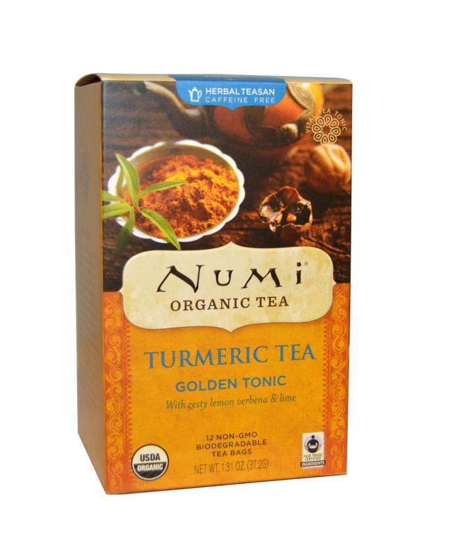 Ekologiška ciberžolės arbata Golden Tonic, 12 pakelių, 37,2g