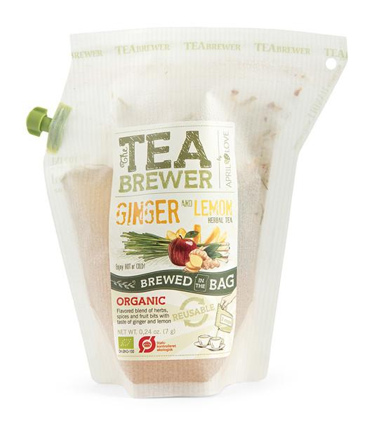 Žolelių arbata Ginger and Lemon TEABREWER, 7g