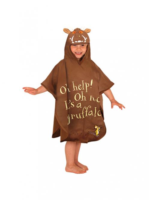 Pončas/rankšluostis LITTLELIFE Gruffalo vaikams nuo 3 metų, 70 x 60 cm (000016)
