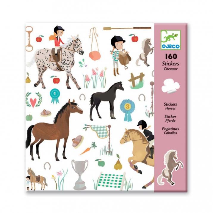 Lipdukų rinkinys DJECO Arkliai vaikams nuo 3 metų (DJ08881)
