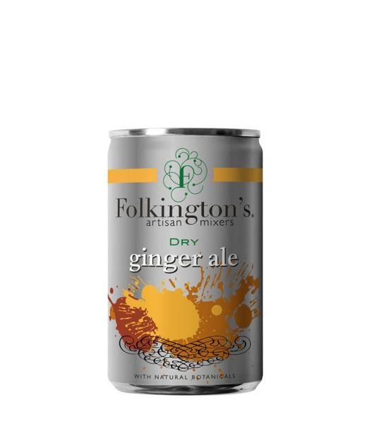 Gazuotas gėrimas FOLKINGTON'S DRY GINGER ALE, 150ml