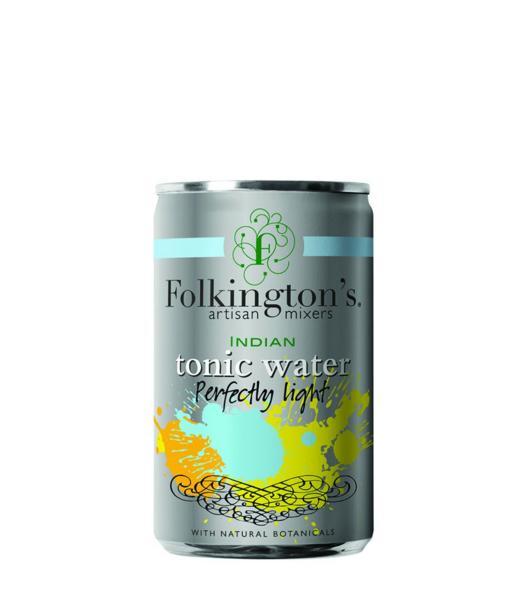Gazuotas gėrimas FOLKINGTON'S INDIAN TONIC WATER LIGHT, 150ml