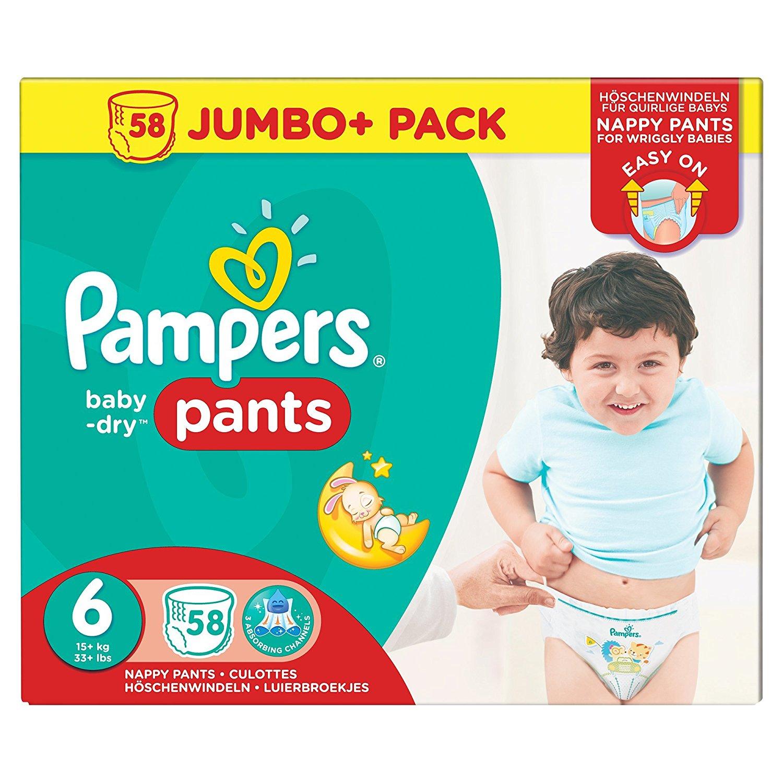Sauskelnės PAMPERS Baby-dry Jumbo, 6 dydis (16+ kg), 58 vnt.