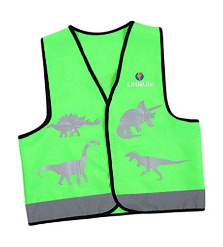 Žalia liemenė su atšvaitais LITTLE LIFE Dinosaur vaikams, S dydis (L13033)