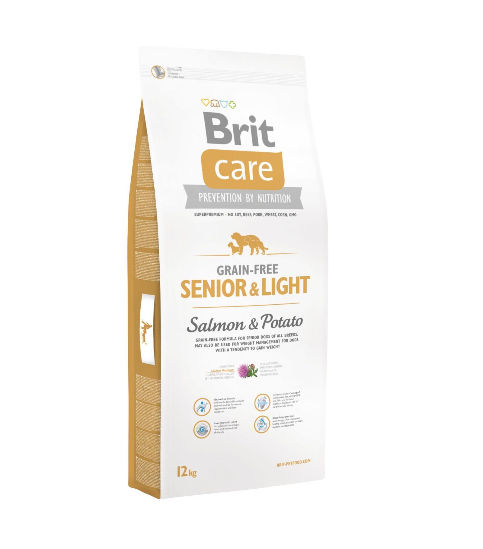 Sausas maistas šunims BRIT CARE Senior&Light Salmon&Potato, 3 kg