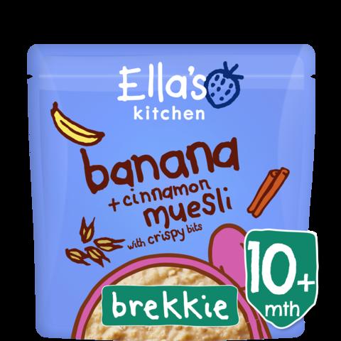 Ekologiški bananų ir cinamono skonio dribsniai ELLA'S KITCHEN kūdikiams nuo 10 mėn., 215 g