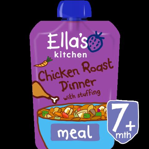 Keptos vištienos tyrelė ELLA'S KITCHEN su įdaru vaikams nuo 7 mėn., 130 g