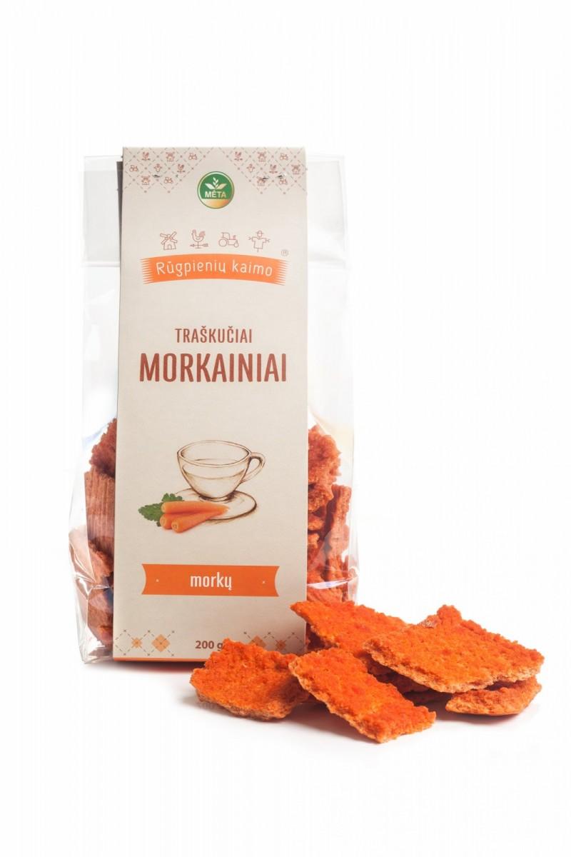 Ekologiški morkų traškučiai Morkainiai, 200g