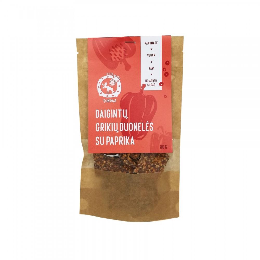 Daigintų grikių duonelės su paprika TUNDRA, 80g