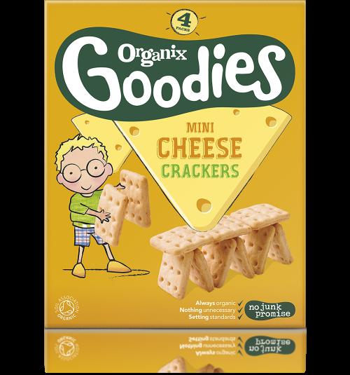 Ekologiški krekeriai su sūriu ORGANIX Goodies vaikams nuo 1 m., 4 x 20 g