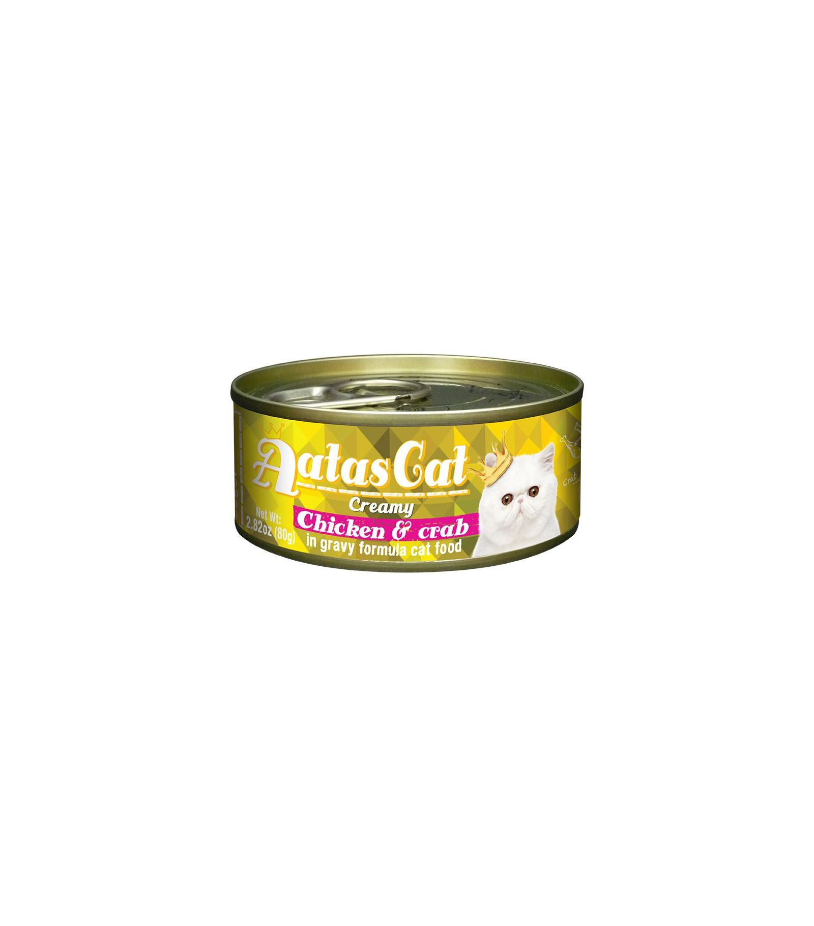 Konservas katėms AATAS Cat Creamy Chicken&Crab, 80 g
