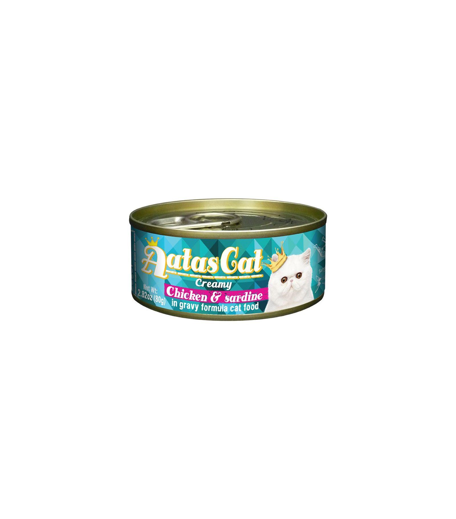 Konservas katėms AATAS Cat Creamy Chicken&Sardine, 80 g