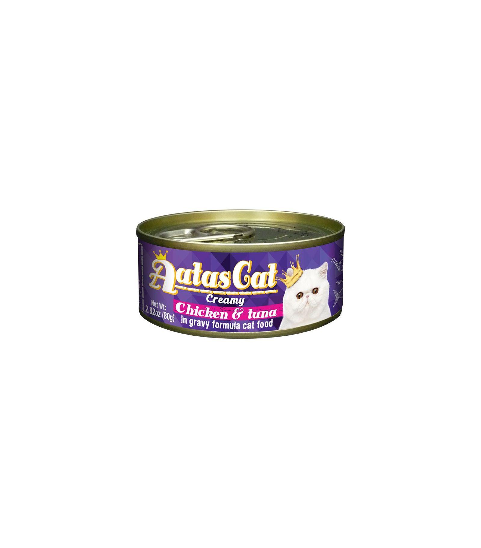 Konservas katėms AATAS Cat Creamy Chicken&Tuna, 80 g