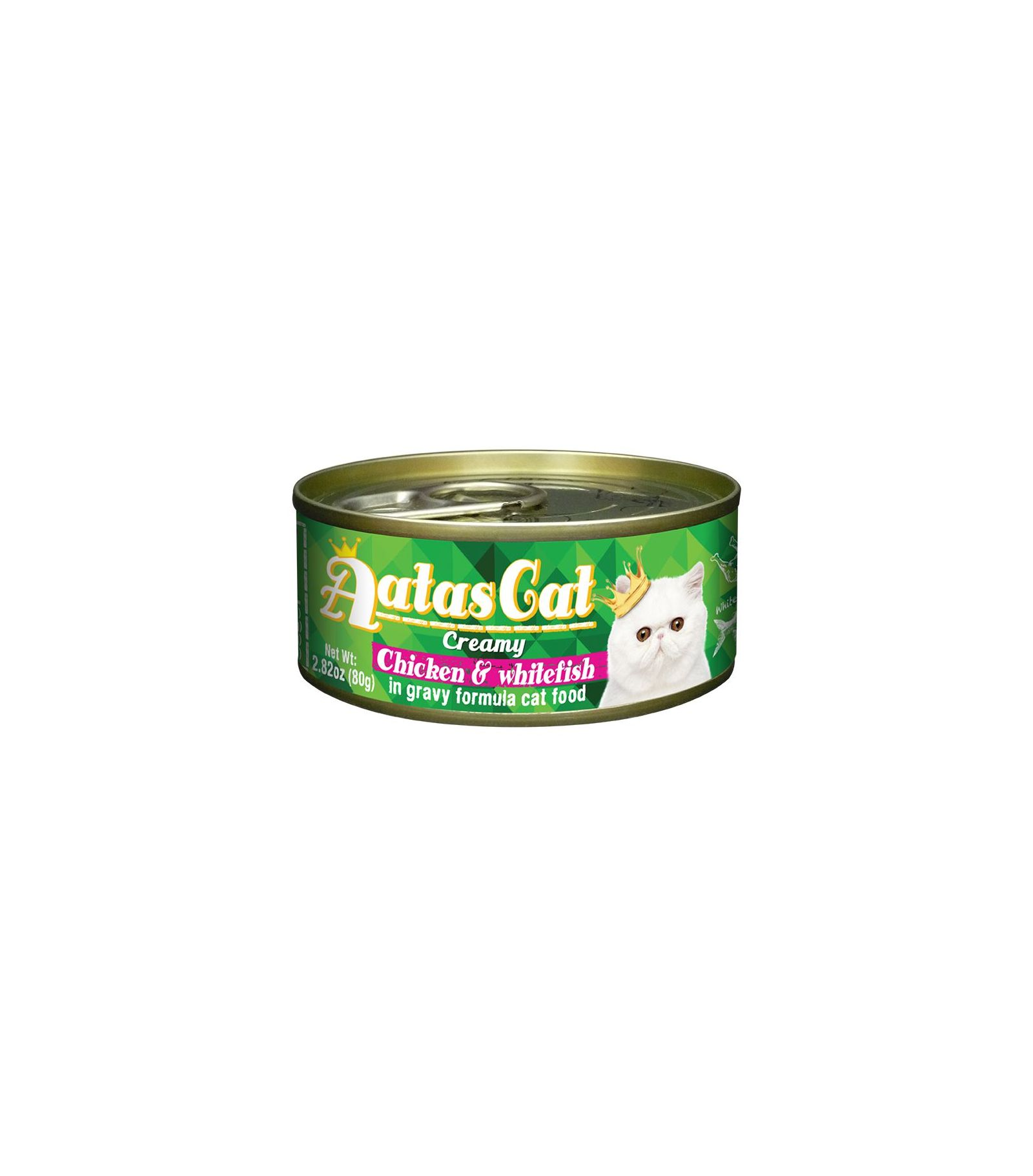 Konservas katėms AATAS Cat Creamy Chicken&Whitefish, 80 g