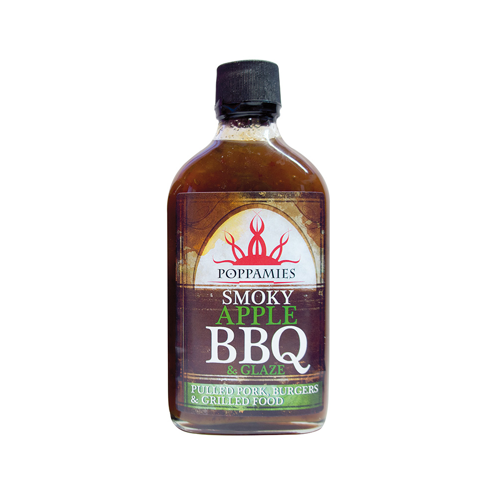 Padažas-marinatas Smoky Apple BBQ POPPAMIES, 266ml