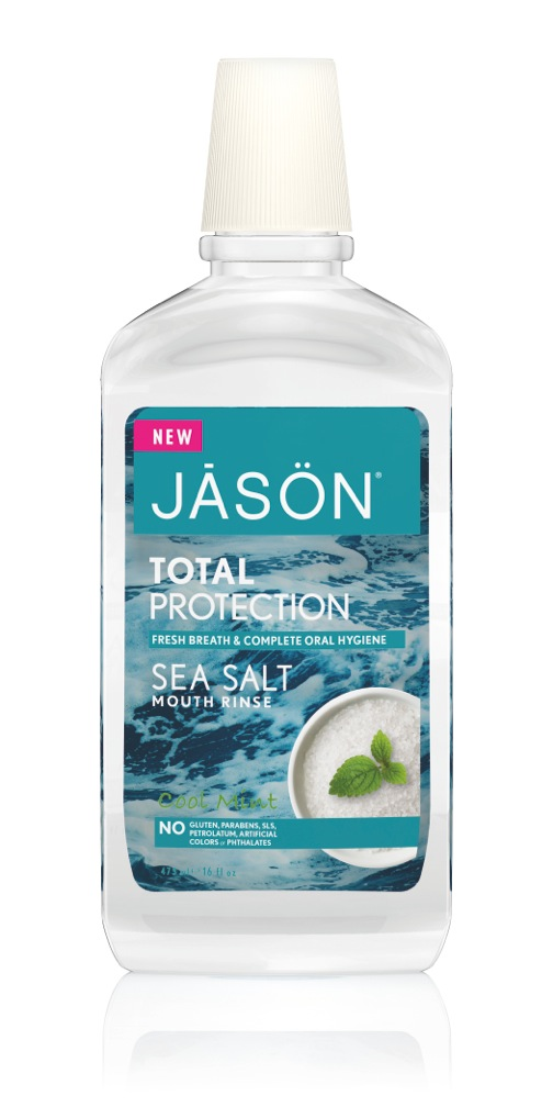Stiprinamasis burnos skalavimo skystis Sea Salt JĀSÖN, 474ml