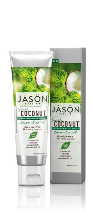 Stiprinamoji dantų pasta su kokosais ir mėtomis JĀSÖN Simply Coconut™,  119g