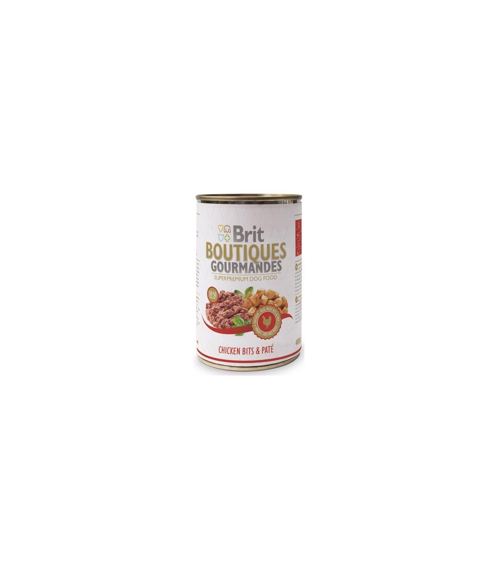 Konservas šunims BRIT CARE Chicken Bits&Pate, 400 g