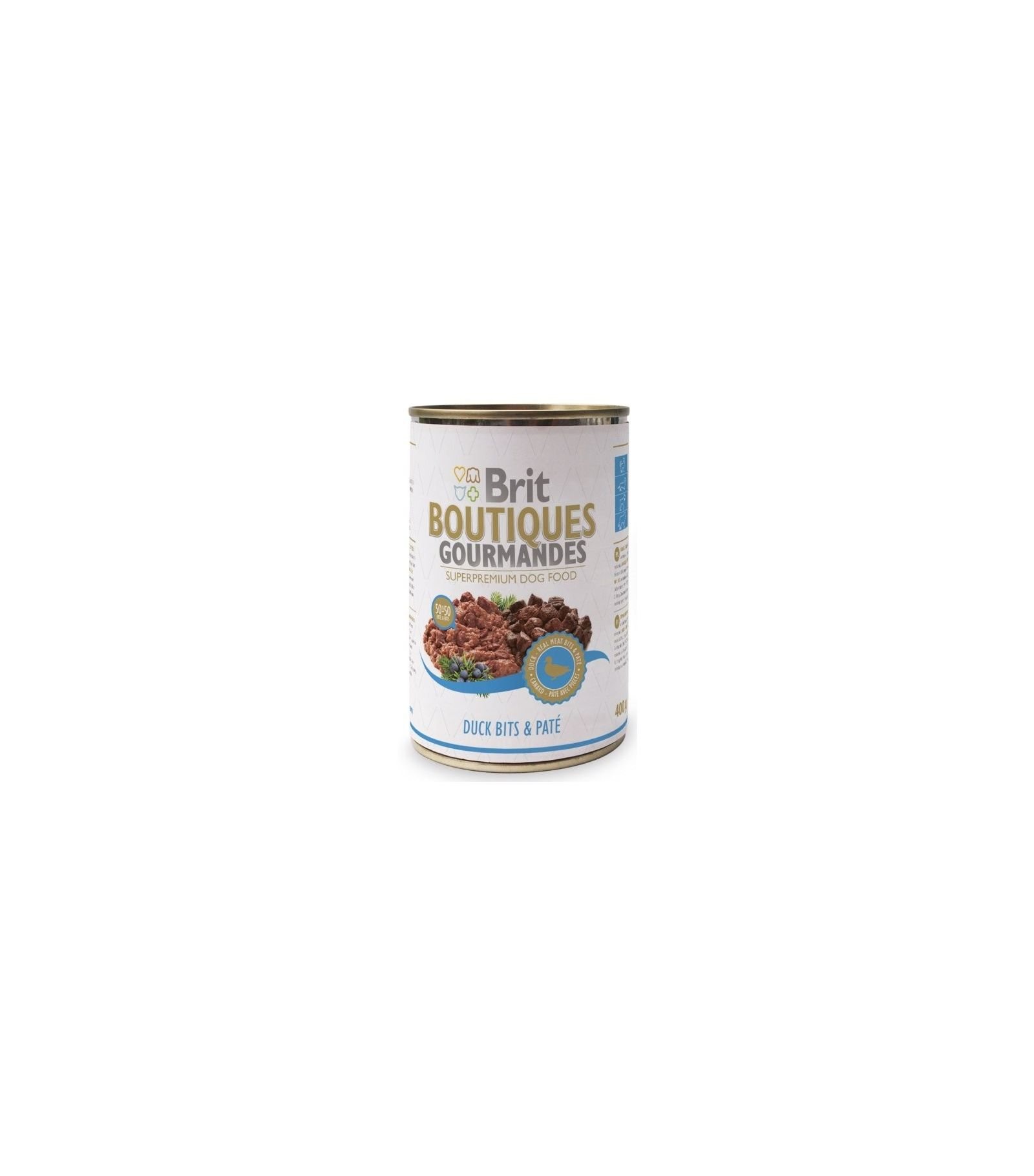 Konservas šunims BRIT CARE Duck Bits&Pate, 400 g