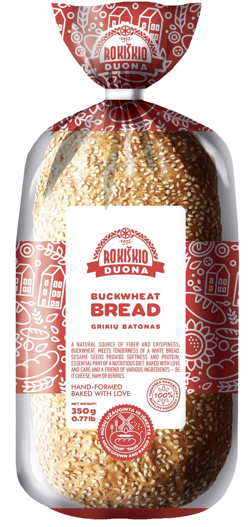 Grikių batonas Rokiškio duona, 300g