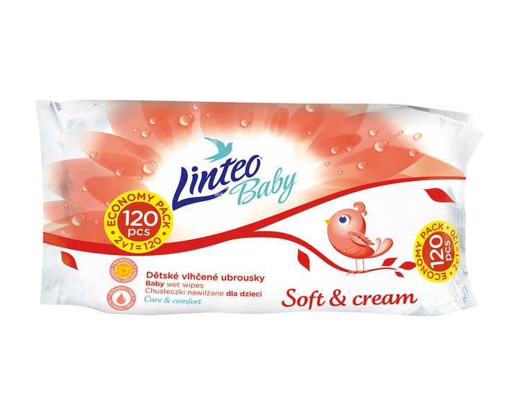 Drėgnos servetėlės LINTEO Soft & Cream, 120 vnt. (25753)