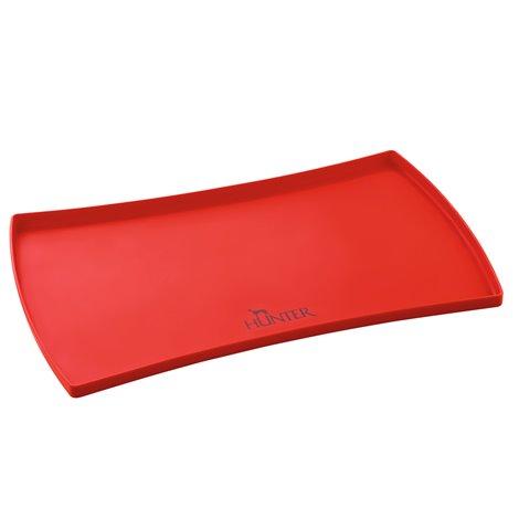 Silikoninis padėklas po dubenėliais HUNTER, raudonas 60×40 cm