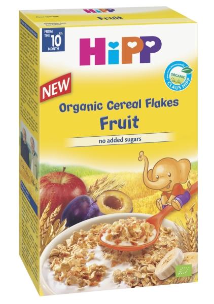 Ekologiški HIPP dribsniai su vaisiais (nuo 10 mėn.), 200 g