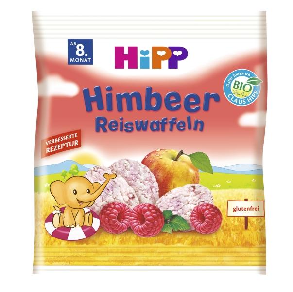 Ekologiški aviečių skonio ryžių paplotėliai HIPP (nuo 8 mėn.), 30 g