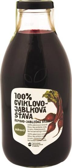 Burokėlių ir obuolių sultys ZDRAVO, 750 ml