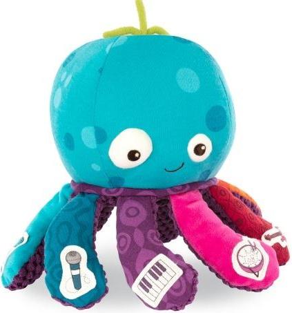 Minkštas žaislas B-TOYS Aštuonkojis kūdikiams nuo 9+ mėn. (BX1518)