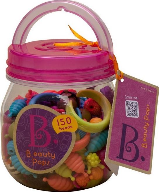150 vnt. skirtingų detalių rinkinys papuošalų gamybai B-TOYS Beauty Pops vaikams nuo 4 m. (BX1373Z)
