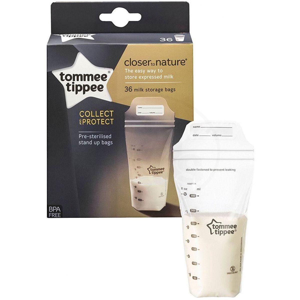 Maišeliai pienui laikyti TOMMEE TIPPEE, 36 vnt. (423022TT)
