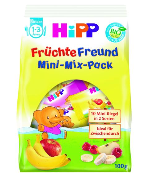 Ekologiškų vaisių batonėlių rinkinys HIPP (nuo 1 m., 10×10 g), 100 g