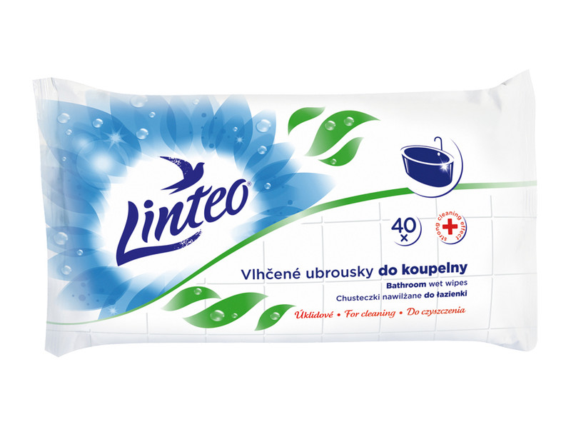 Drėgnos servetėlės voniaii LINTEO, 40 vnt.