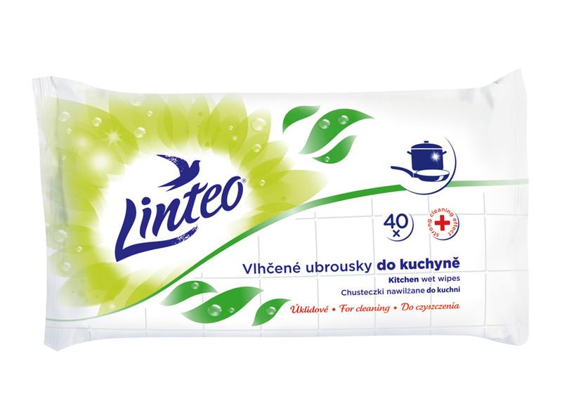 Drėgnos antibakterinės servetėlės virtuvei LINTEO, 40 vnt.