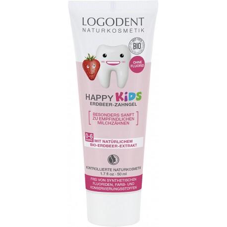 Vaikiškas dantųgelis LOGODENT HAPPY KIDS Strawberry, 50ml