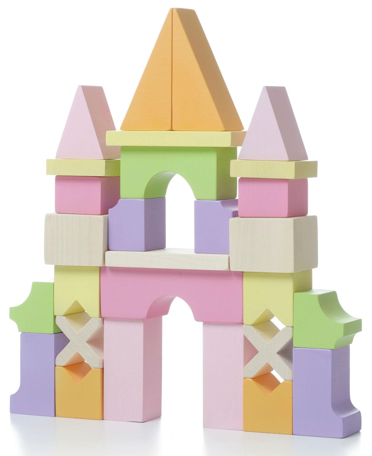 Medinių kaladėlių rinkinys CUBIKA Pilis vaikams nuo 3 metų (11346)