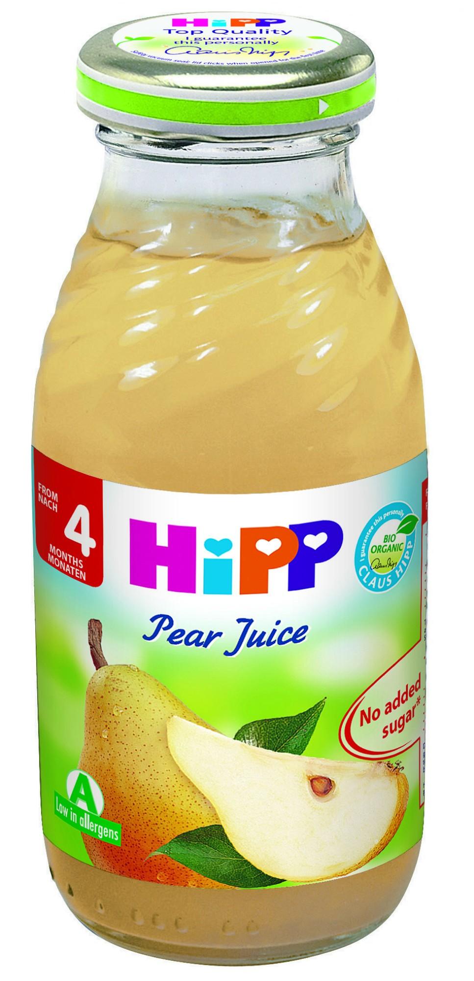 Ekologiškos kriaušių sultys HIPP (nuo 4 mėn.), 200 ml
