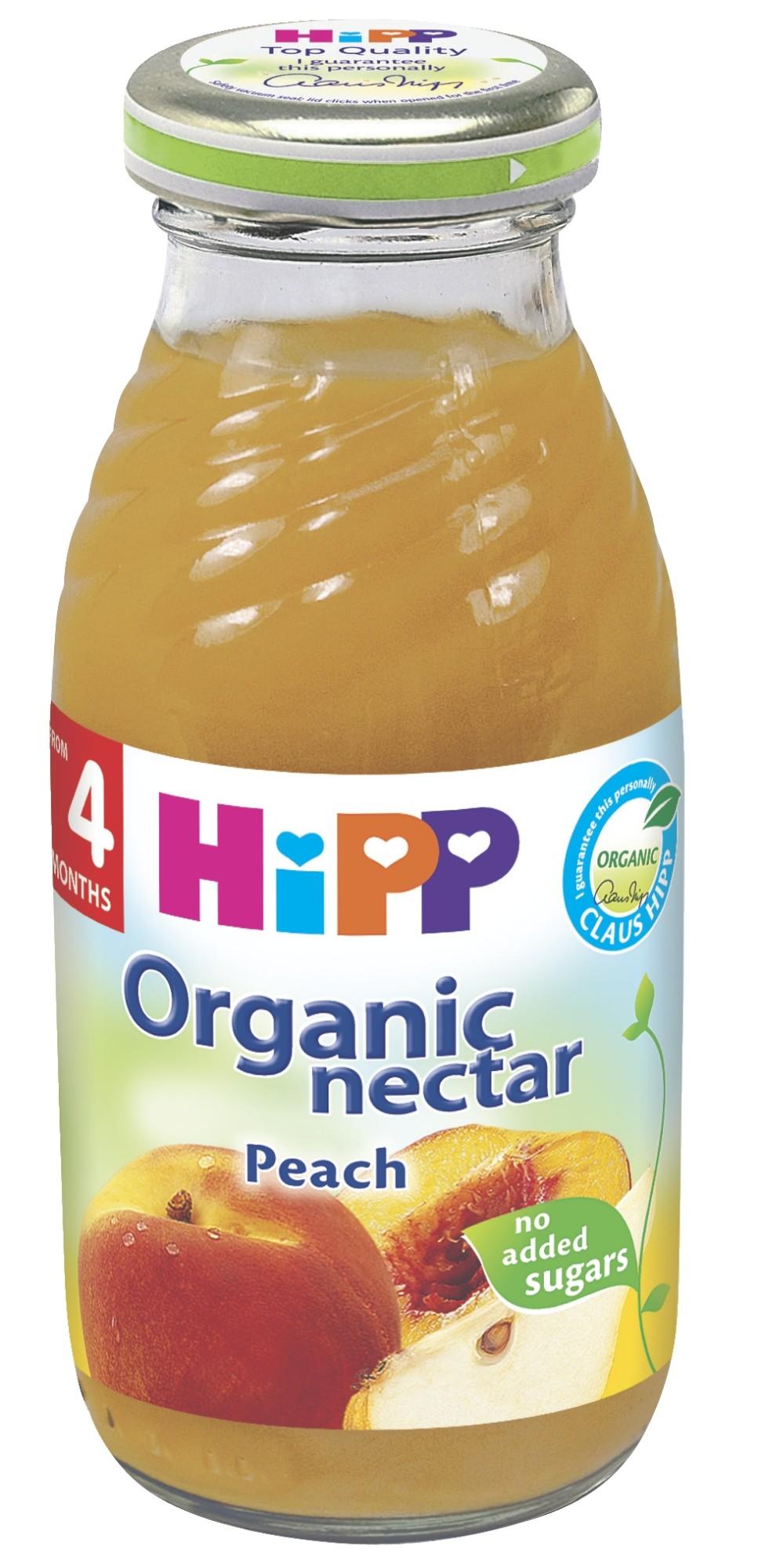 Ekologiškas persikų nektaras HIPP (nuo 4 mėn.), 200 ml